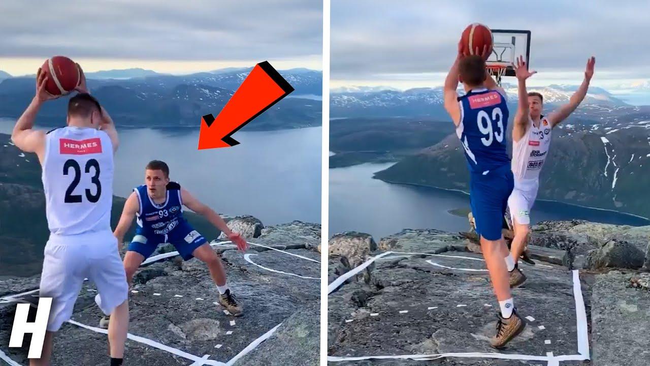 1V1 BASKETBALL ON TOP OF A MOUNTAIN!