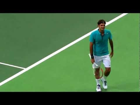 Federer at Rotterdam center court