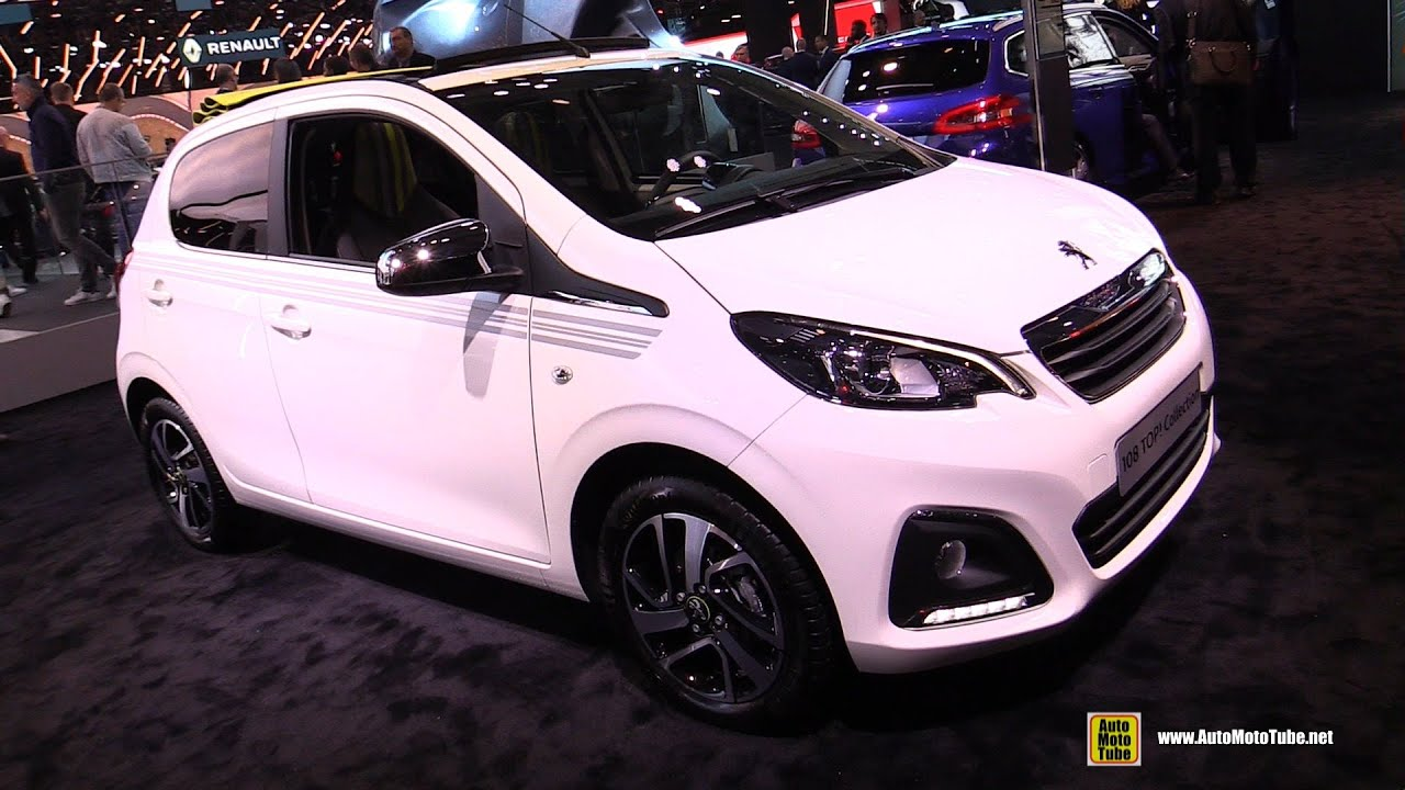 2019 peugeot 108 top collection exterior and interior walkaround 2018 paris motor show youtube. Black Bedroom Furniture Sets. Home Design Ideas