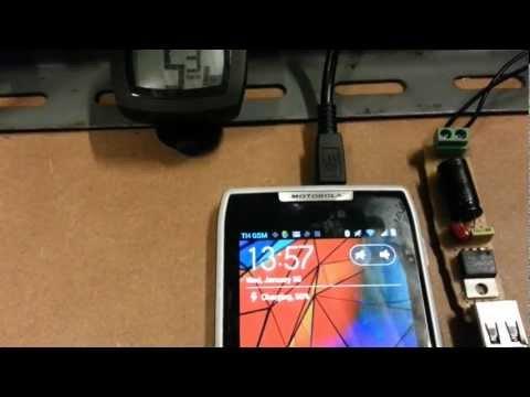 usb charger dynamo hub with 6V 2.4W.mp4