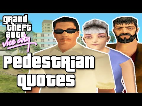 GTA Vice City Pedestrian Quotes : Old Lady Shopper, Hispanic Rich Guy & Old Tramp Guy