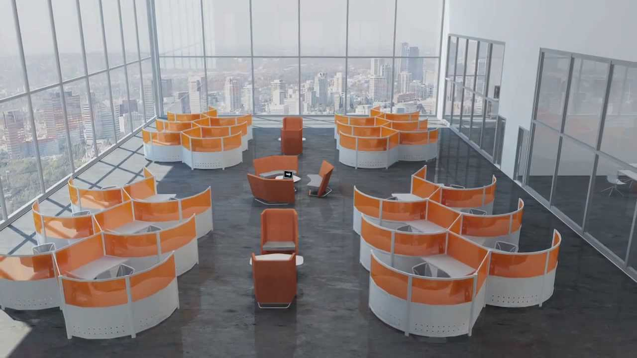 modern office furniture for creative office space - youtube