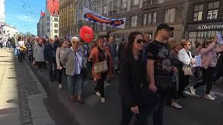 Марш в защиту русских школ в Риге 1 мая 2018 года