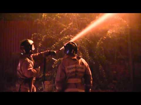 Пожар в Трусовском районе Астрахани 26 октября 2015