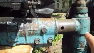 Установка дозатора на мтз 80 часть 1 (монтаж гидроцилиндра)