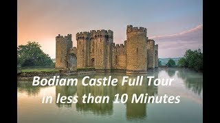 Bodiam Castle Full Tour in Less than 10 Minutes! Visit England, United Kingdom!