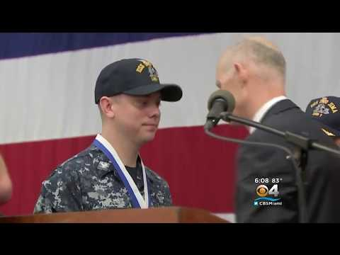 ICYMI - WFOR: Gov. Scott Presents Two Navy Sailors with the Medal of Merit