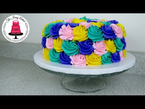 Cake Decorating Icing Artist : Rose Swirl Rosette Cake - How To With The Icing Artist ...