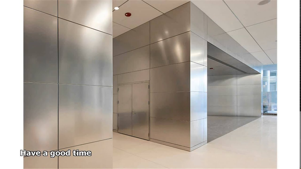stainless steel wall panels - YouTube