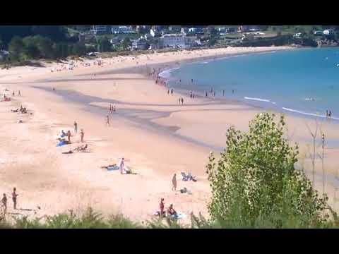 Buen ambiente en la playa de Area