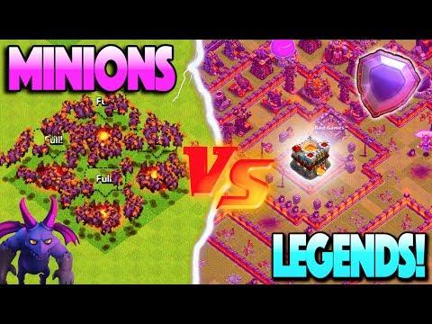 ELECTRIC MINION SWARM vs. LEGENDS LEAGUE PLAYERS! Clash of Clans Event Challenge!
