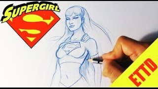 How to Draw Supergirl - Easy Things To Draw