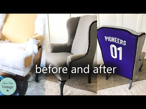 Upholstery Without Sewing | Wing Back Chair | Teenage Bedroom Ideas Part 2