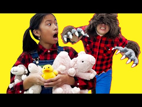 Wendy Pretend Play Animals on the Farm Story for Kids | Kids Cry Wolf
