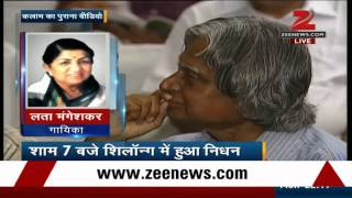 Lata Mangeshkar mourns former President APJ Abdul Kalam's death