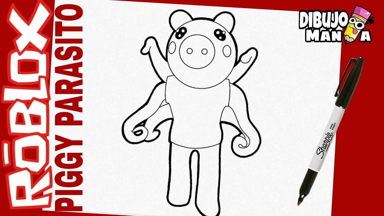 Como Dibujar A Parasito De Piggy Roblox Dibujos De Piggy Roblox