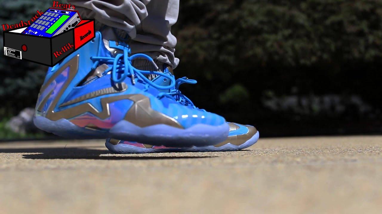 Lebron 11 Elite Blue On Feet - YouTube
