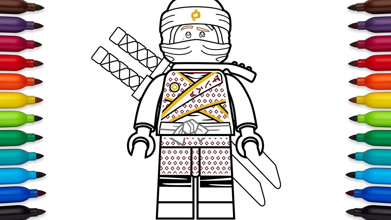 How to draw Lego Kai from Ninjago