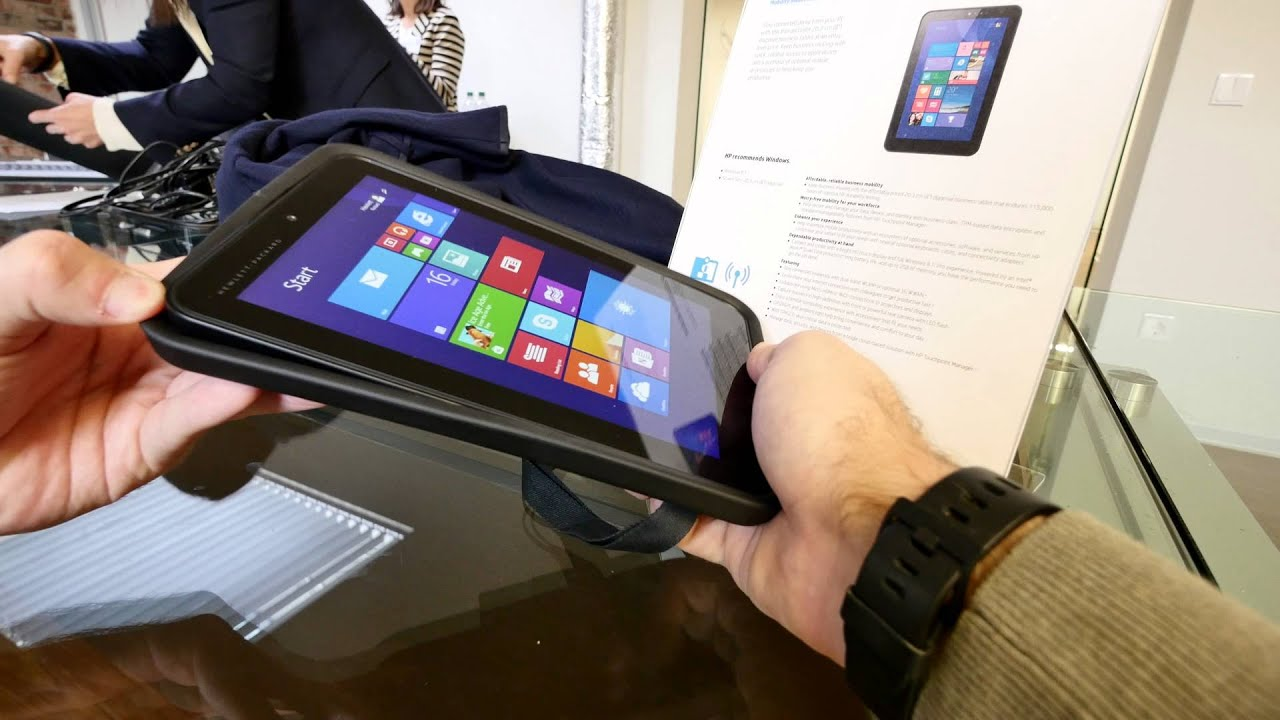 Hp Pro Tablet 408 G1 Hands On 4k Youtube