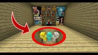 CÁCH LÀM SÀN NHÀ BÍ MẬT ĐỂ GIẤU GIÁ TREO ĐỒ TRONG MCPE | Minecraft PE 1.2
