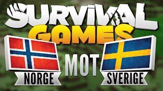 NORGE MOT SVERIGE - Survival Games / Norsk Minecraft