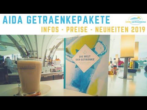 AIDA Getränkepakete 2019 - Neu mit Cocktails