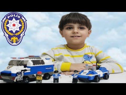 Lego oyuncak polis arabası oyuncak polis ekibiyle hırsız polis oyunu oynadık. Toy police car videos