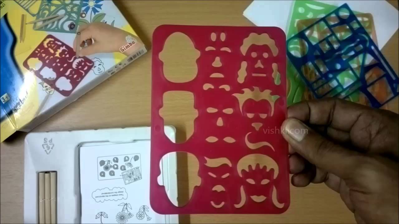 art and fun drawing stencils for kids shapes of houses faces vehicles flowers simba youtube - Kids Drawing Stencils