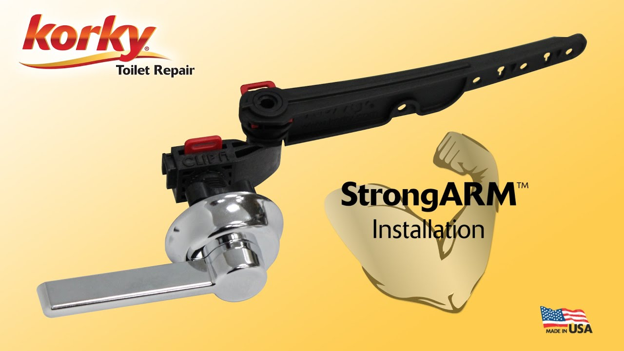 How To Install Strongarm Toilet Tank Lever By Korky Youtube