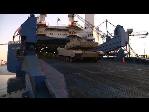 2nd Armored Brigade Combat Team Rolls Into Europe