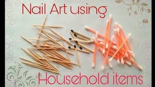 5 easy nail art hacks for beginners using household things.Time saving DIY nail art ideas.No tool.
