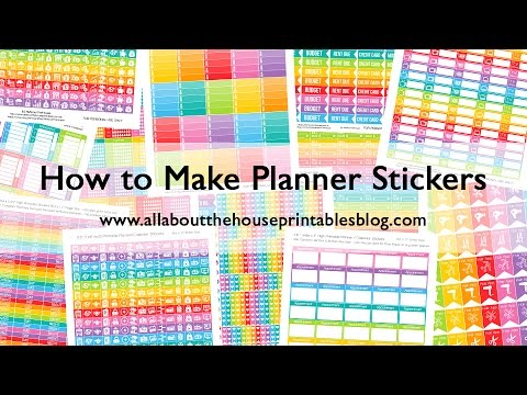 How To Make Planner Stickers Step By Step Video Tutorials Create - Design your own stickers