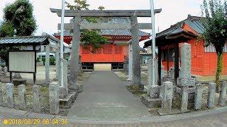 2018-08-29 雀神社近傍です。裏手に駐車スペース有。 字幕に入れた××は...