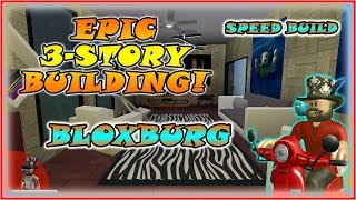 Bloxburg- Epic 3-Story Build in Welcome To BloxBurg Roblox [ Speed Build]