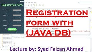 How To Create Registration Form With DataBase Connectivity Using Java in Netbeans | Hindi Urdu
