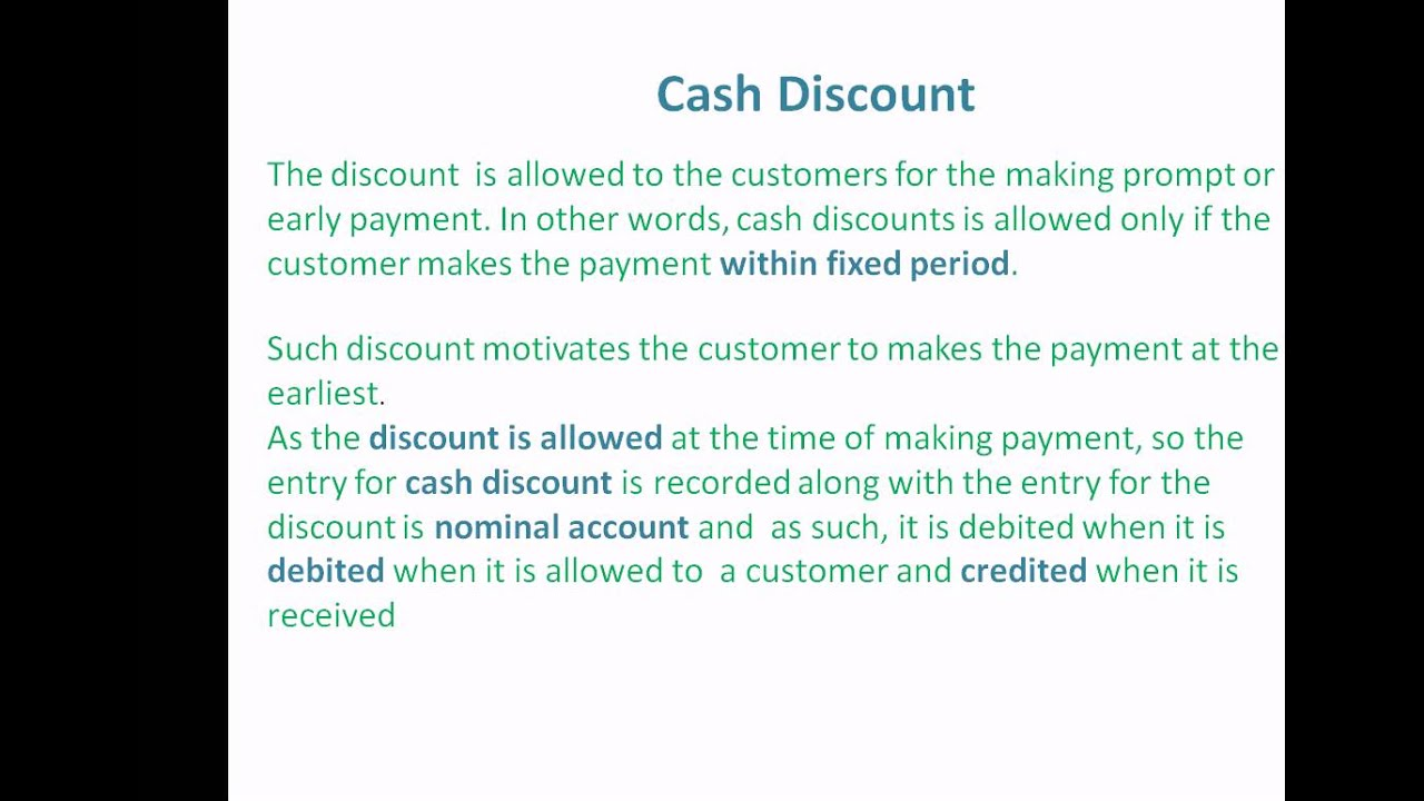 What is a discount