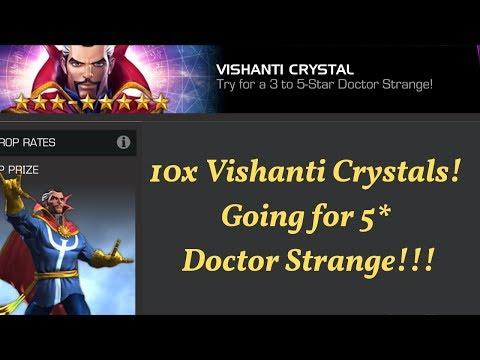 10x Vishanti FGM crystals! Going for 5* Dr. Strange! - Marvel Contest of Champions