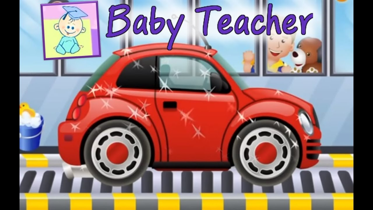 car wash my little car wash games for kids from baby teacher