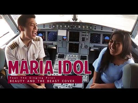 Beauty And The Beast Cover by MARIA IDOL and THE SINGING PILOT (Inside Airbus Cockpit)