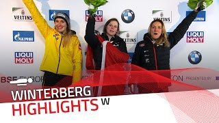 The heavy snowfall don't slow down Elisabeth Vathje | IBSF Official