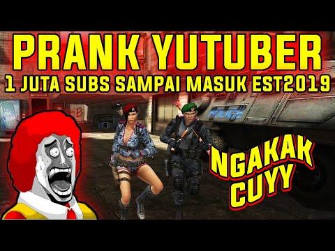 PRANK YUTUBER !! 1 JUTA SUBS MASUK EST2019 !! - POINT BLANK INDONESIA