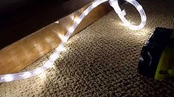 Tips on hanging LED rope lights