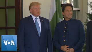 US President Donald Trump Greets Pakistan's Prime Minister Imran Khan at the White House thumbnail