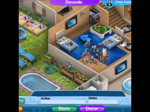 V families 2 house design youtube for Virtual families 2 decoration