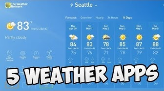 Top 5 Weather Apps for Windows 10