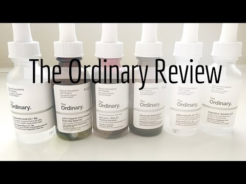 The Ordinary Review Part 1 || Skincare: Serums & Acids - Elle Leary Artistry
