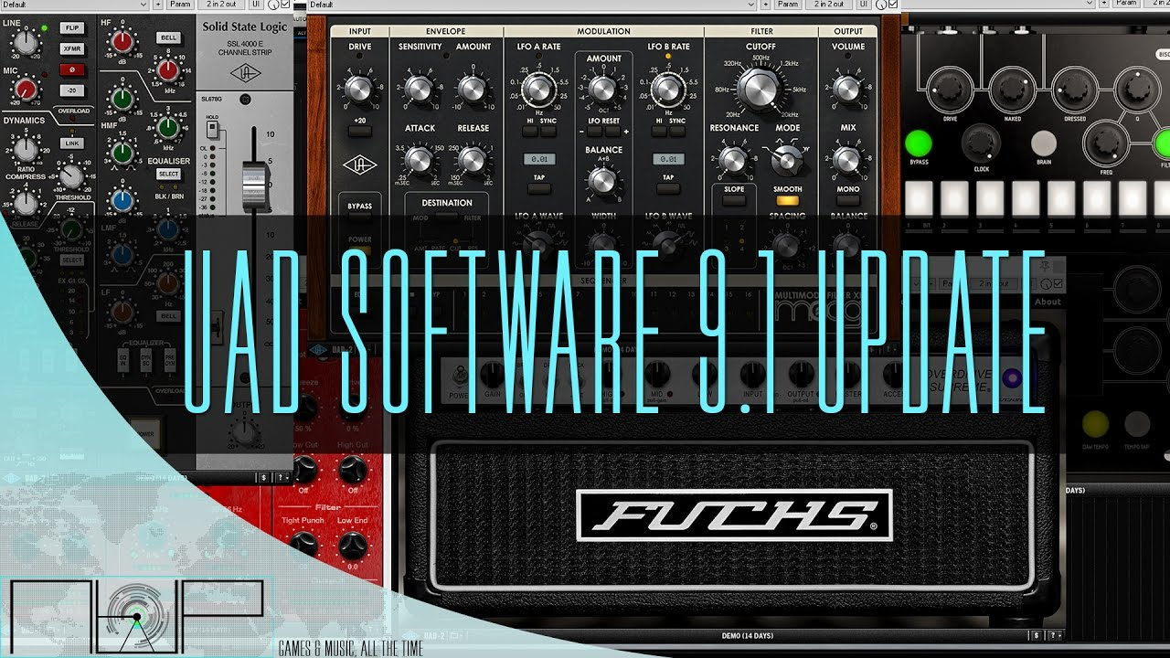 UAD Software 9 1 | New Plugins Demo and DSP Test