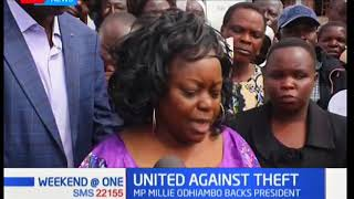 If anybody jokes with the president they'll find me head-on, declares MP Millie Odhiambo