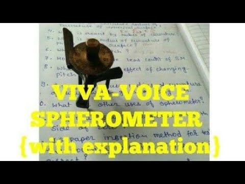 Viva-voce question-answer with explanation for SPHEROMETER class 11th|12th|10th|9th cbse icse