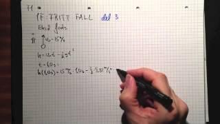 Fysikk 1 1F Fritt fall Del 3